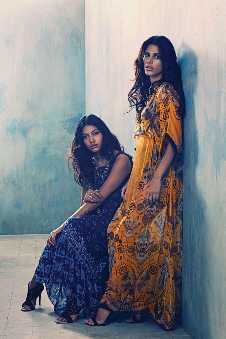 long tunic summer dresses Label Ritu Kumar Spring Summer 2014 Campaign