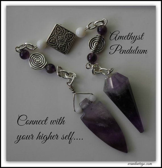 PENDULUM with Black Amethyst and Arrowhead fob by CrystalVibrations06  Connect with your higher self and trust your intuitive side with this beautiful handcrafted pendulum