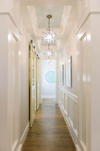 Soft Aqua ceiling and lighting