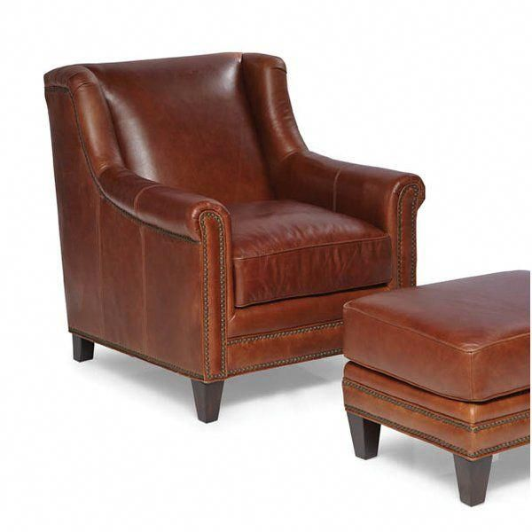 Rh S 1920s Parisian Leather Club Ottoman Inspired By An Original Chair From 1920s Paris This Is The Perfe Leather Club Chairs Club Chairs Wicker Dining Chairs