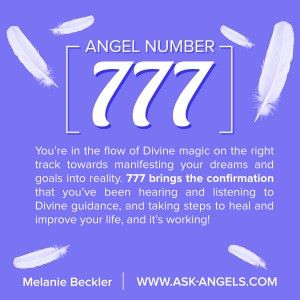You're in the flow of Divine magic on the right track towards manifesting your dreams and goals into reality. 777 brings the confirmation that you've been hearing and listening to Divine guidance, and taking steps to heal and improve your life, and it's working.  Learn more about the meaning of 777 and additional angel numbers here: http://www.ask-angels.com/spiritual-guidance/angel-number-777/  #angelnumbers #angelicguidance #signs #angeliclove #spiritguides