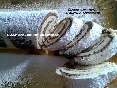 Laura Lau in cucina con le amiche: ROTOLO ZEBRATO CON CREMA AL BURRO E CIOCCOLATO (Bi...