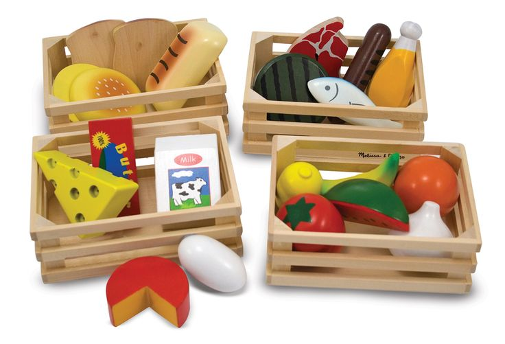 Wooden Play Food Set | Food Groups - Melissa & Doug® All the food groups represented and for only $20!!