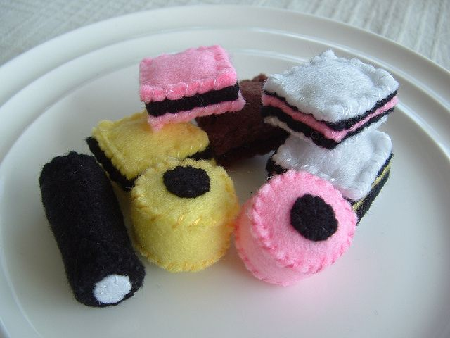liquorice allsorts felt food candy by lisajhoney, via Flickr