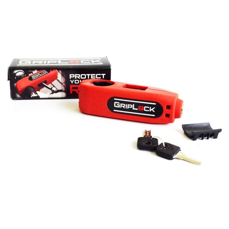 Raja Motor Grip Lock Kunci Aman Stang - Merah  Pengaman motor ini dapat diatur dan digunakan untuk stang berdiameter 27 hingga 38mm. Terbuat dari bahan hardened steel yang kokoh sehingga sukar untuk dirusak.