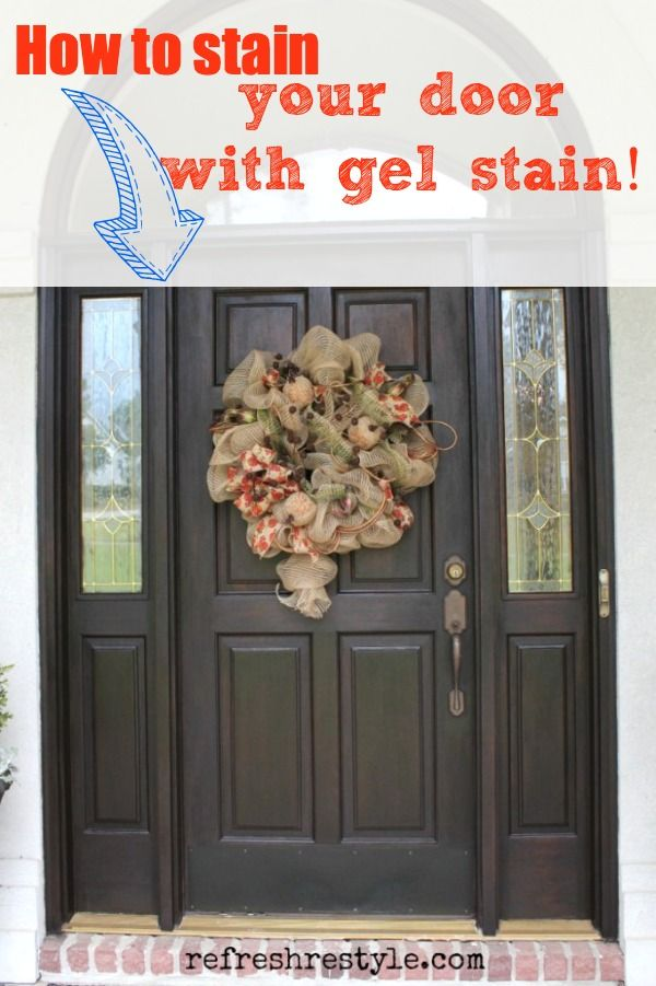 Easy DIY for using Gel Stain to stain your wood door!