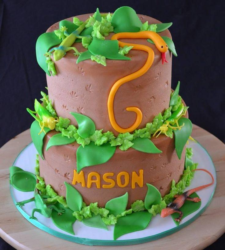 Masons Reptile Birthday Cake Masons Reptile Birthday