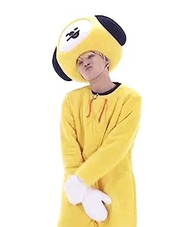 He's wearing a yellow dog emoji costume, how tf does he still have swag