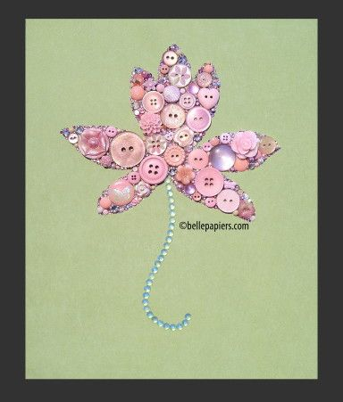 Button Art Waterlily Lotus Buttons