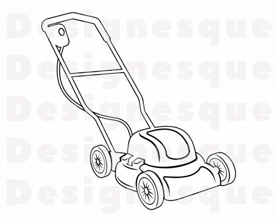 Lawn Mower Outline 2 Svg Lawn Mower Svg Landscaping Svg Etsy Lawn Mower Mower Lawn Mower Storage