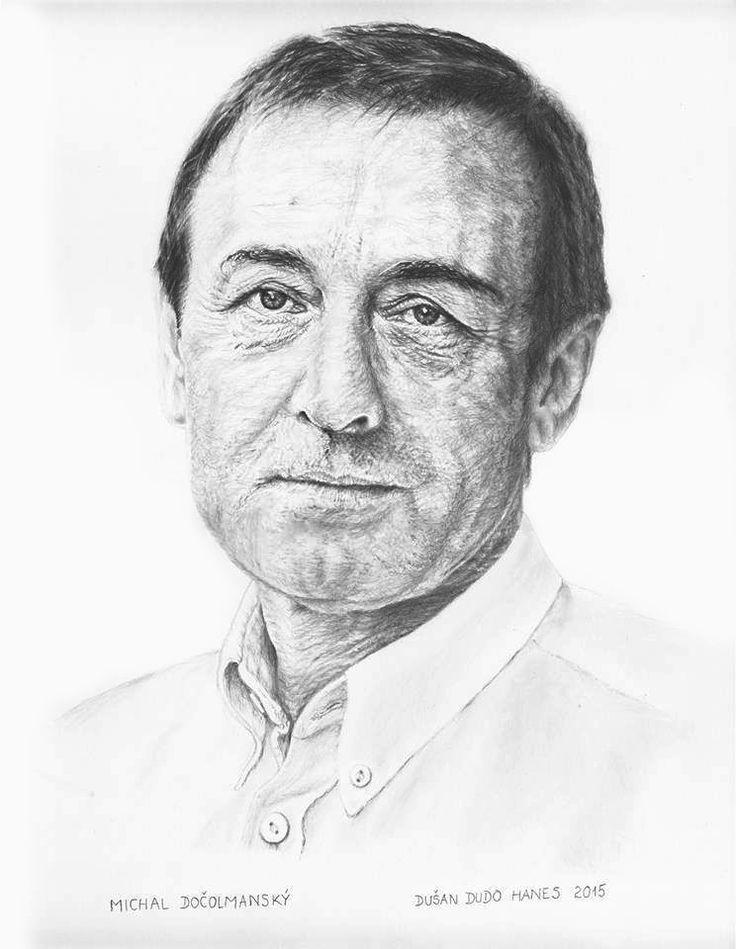 Michal Dočolmanský, portrét Dušan Dudo Hanes
