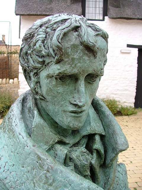 Sculpture of John Clare at Hepston: Bard of the Mossy Cot by Giles C. Watson