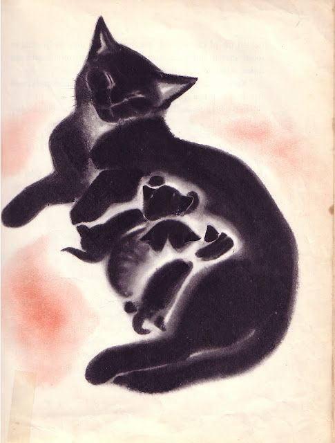 Clare Turlay Newberry, April Kittens, 1940: Garth Williams, Cat Art, Clare Turlay, Mothers Day, Catart, April Kittens, Turlay Newberri, Blackcat, Black Cat