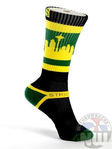 Seattle Skyline Socks | Supersonics Colorway Socks ...
