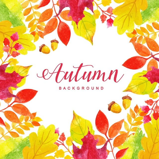 Beautiful Watercolor Autumn Leaves Background Watercolor Paint Background Png And Vector With Transparent Background For Free Download Watercolor Autumn Leaves Background Vintage Autumn Leaves Background