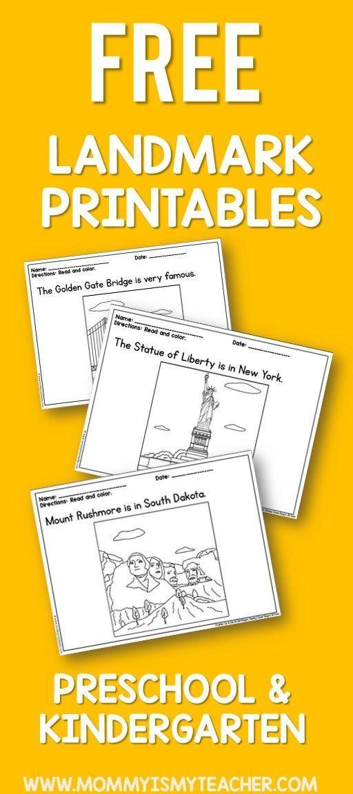 I love these free preschool social studies printables ...