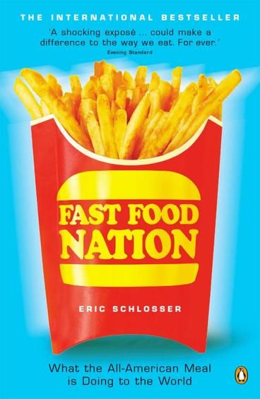 """Fast Food Nation is Eric Schlosser's critique of the American fast food industry.  He shows how the rise of fast food has resulted in many societal problems including rising obesity rates, widening income gap, labour exploitation, and potential for mass outbreaks of serious diseases (such as BSE, aka """"mad cow disease"""").  It is also a warning for the future, as emerging economies embrace fast food as part of their yearning for a Western lifestyle."""