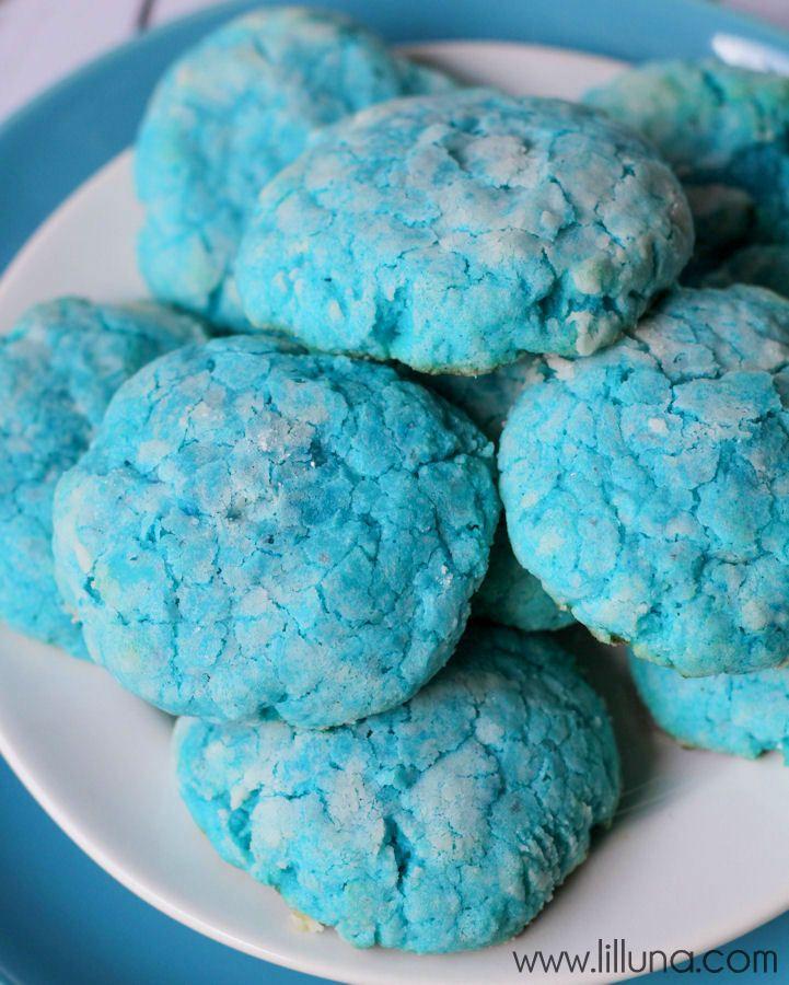 Gooey Butter Blue Velvet Cookies