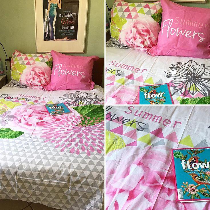 """BABOU colore la vie avec son linge de lit ! @LiveLove_Cook a déniché cette parure de lit """"Summer"""" 200x200 cm + 2 taies d'oreiller pour seulement 24€."""