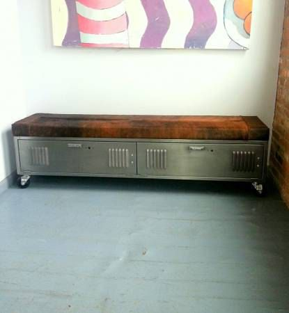 Vintage Steel Locker Storage Bench by ArtspaceIndustrial on Etsy, $1,045.00