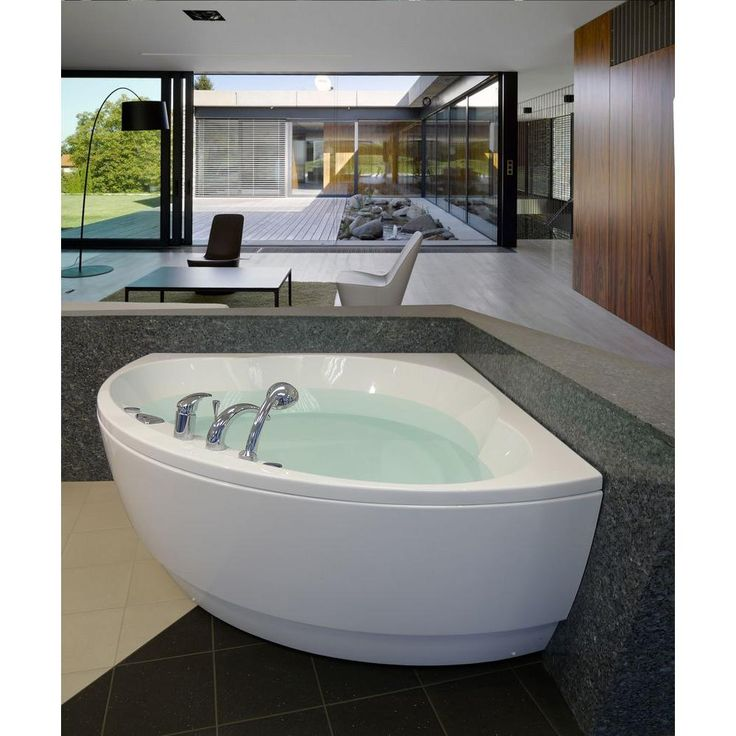 Modern White House With Integrated Angles And Corners: 1000+ Ideas About Corner Bathtub On Pinterest