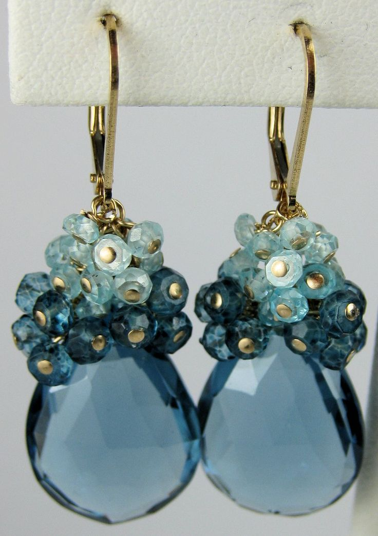 London Blue Topaz earrings, Me encantan los pendientes... Tooodos!!!