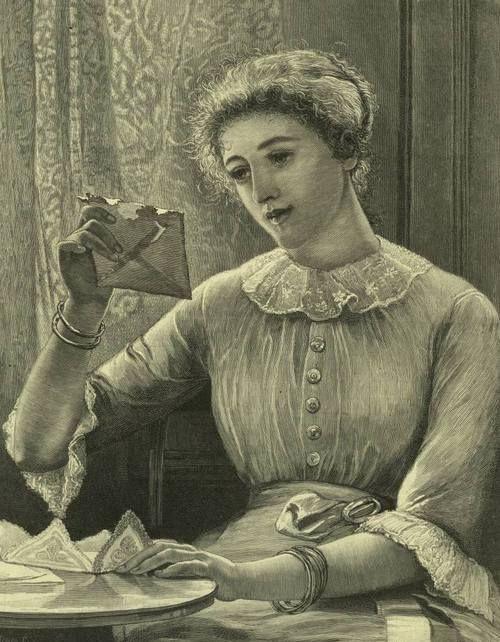 Αποτέλεσμα εικόνας για 40s lady reading letter