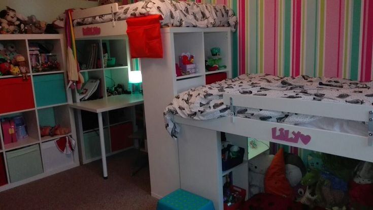 Ikea kallax expedit loft bed with desk and den