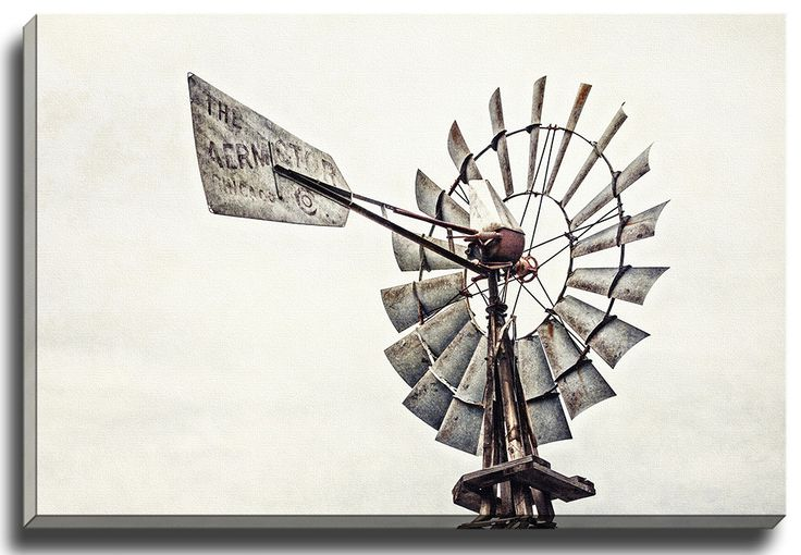 Windmill by Lisa Russo Photographic Print on Gallery Wrapped Canvas