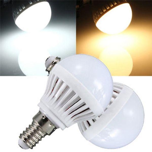Wholesale Price Free Shipping E14 Led Bulbs E14 4w 180 240lm 2835 Smd Warm White White Led Globe Bulb 110v Bulb Globe Bulb Led Light Bulbs