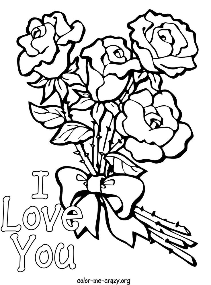 image detail for colormecrazyorg valentine coloring pages - Coloring Pages Hearts Roses
