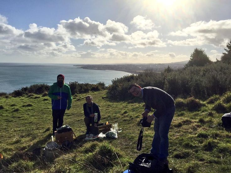 Up shooting an Irish veggie Stew on Bray Head for Jamie Olivers Food Tube with Seanie & Al. Mighty day out, powerful!! :)