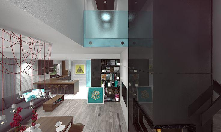 Tu architekci | Wnętrze domu jednorodzinnego w Nowosolnej
