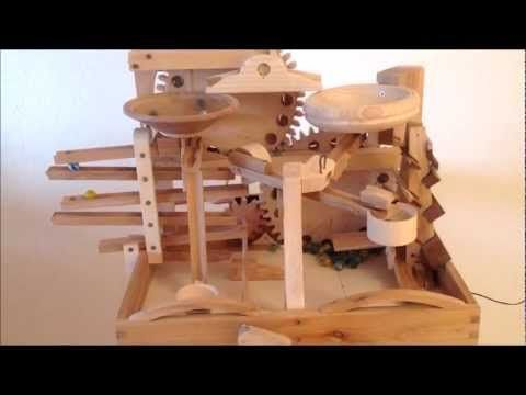These marble machines by Swiss designer Paul Grundbacher take marble runs to a whole new level!