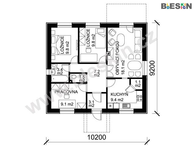 Dům zajišťuje velmi nízké náklady na bydlení