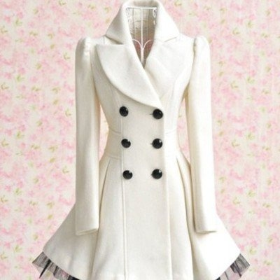 Love this winter white wool coat for holiday events! <3