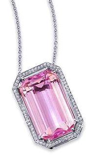 Kunzite & Diamond Necklace