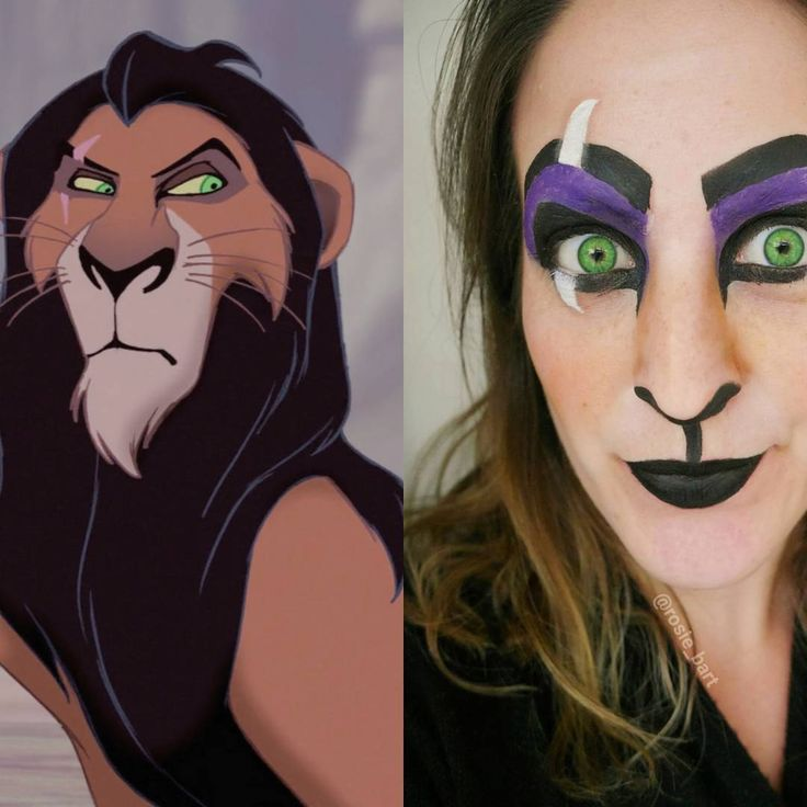 ~ I'm surrounded by idiots ~ Scar, The Lion King. (@rosie_bart) on Instagram #scar #lionking #disney  #halloween #facepaint #cosplay