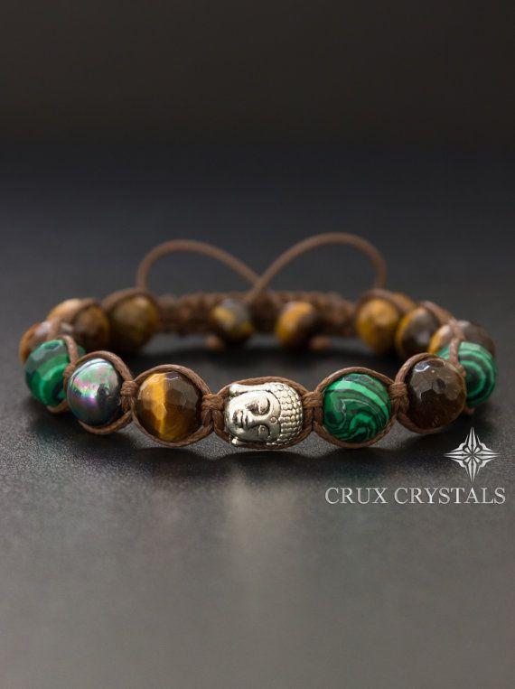 Buddhas Auge, Wohlstand Armband, Shamballa Armband Unisex: Edelstein Perlen…