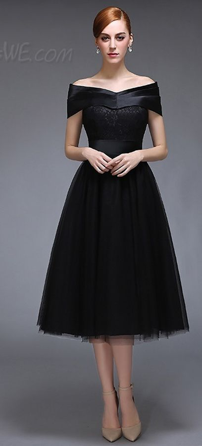 c6b3c1878d8  105.83 Dresswe.com SUPPLIES Vintage A-Line Off-the-Shoulder Lace ...