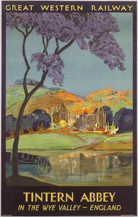 'Tintern Abbey', GWR poster, 1930. Artist Freda Lingstrom.