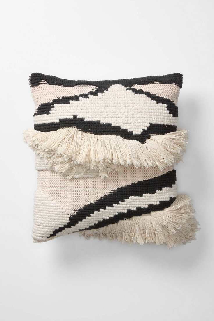 fluffy stripey B pillow