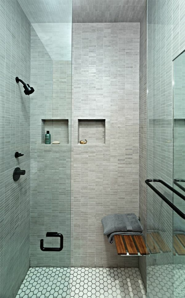 kleines bad einrichten bodengleiche dusche
