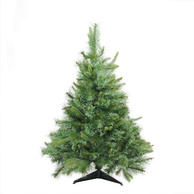 3-Ft Artificial #Christmas #Tree Unlit Tabletop Realistic Home Season Decor
