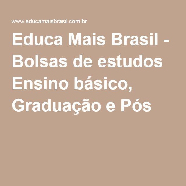 Educa Mais Brasil - Bolsas de estudos Ensino básico, Graduação e Pós