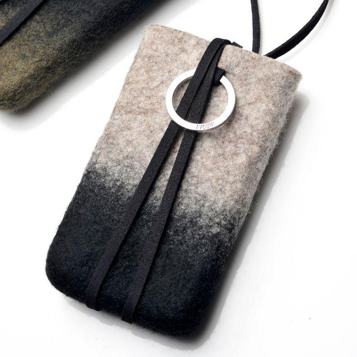 Smartphone Felt Pouch Gray  by EVOUNI
