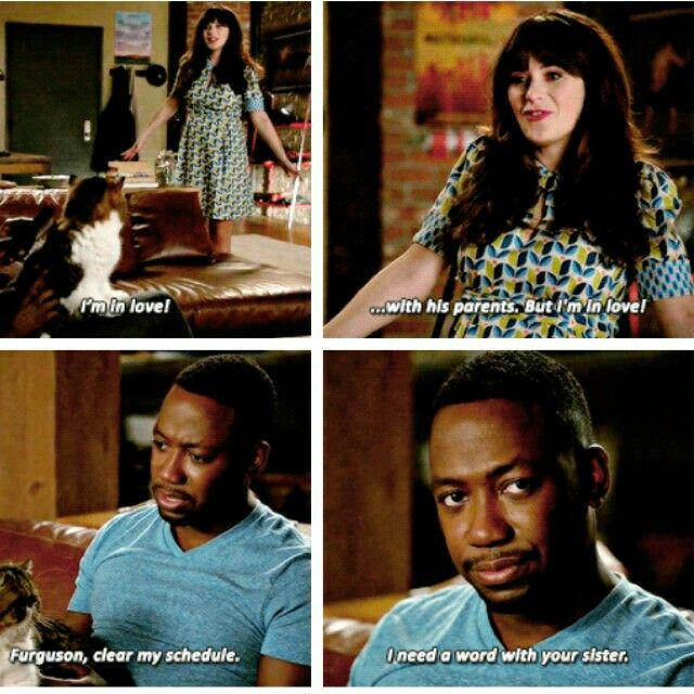 """I'm in love... with his parents!"" - Jess and Winston #NewGirl"
