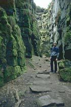 Lud's Church - natural rock cleft near Gradbach, Staffordshire, Peak District. Folklore. History. Lollards. Secret.