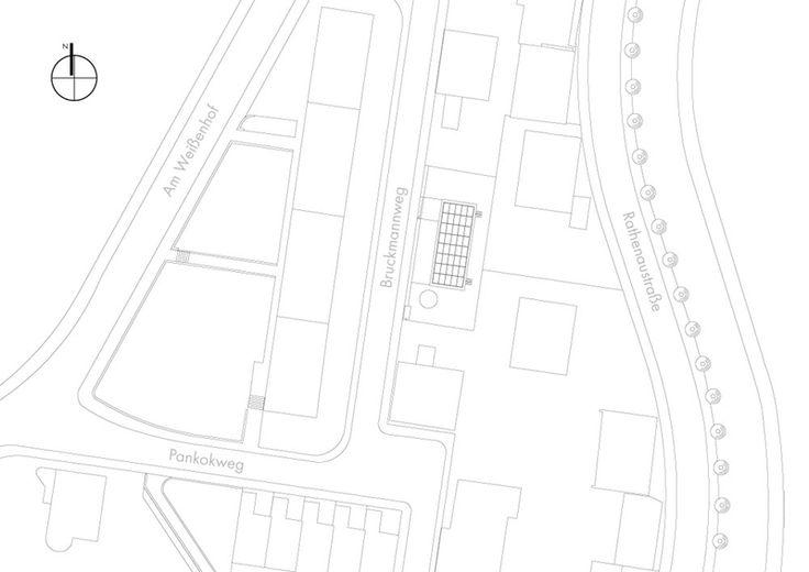 Experimentalgebäude B10 in Stuttgart, Lageplan