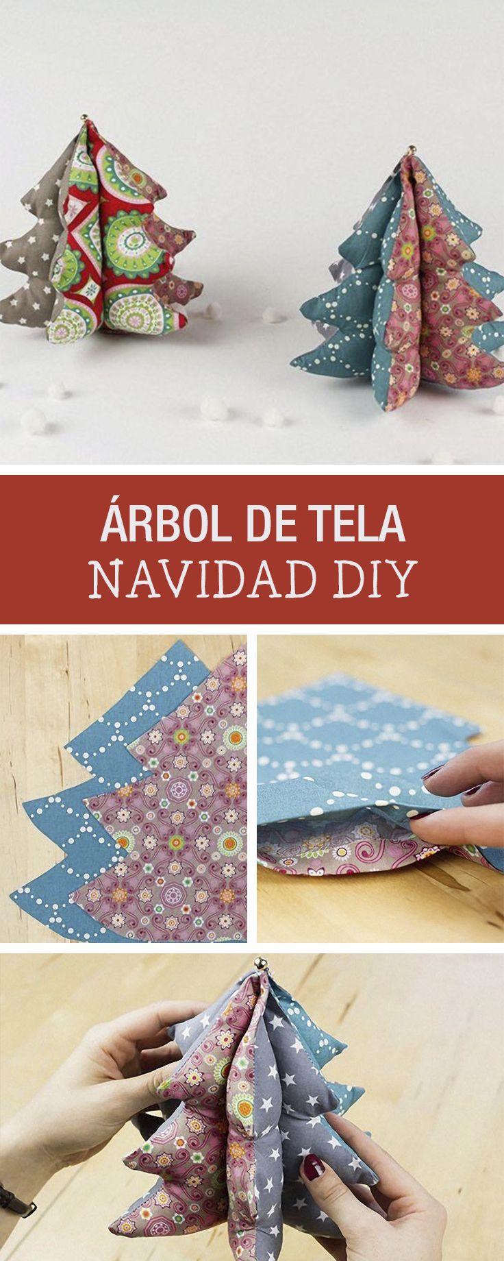 Tutorial DIY: Cómo hacer un árbol de Navidad de tela- Costura- Decoración navideña en DaWanda.es